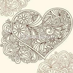 Doodles Heart Vector