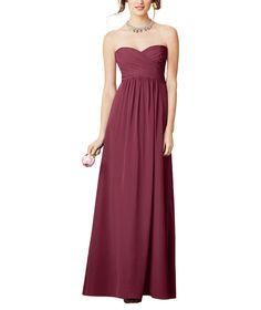 Bridesmaids by Alfred Angelo Style 7289L - the mahogany color is a very rich wine color, close to sangria