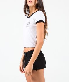 TOP GRIS ICONOS - Tops - Mujer