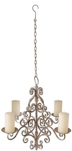 I want to hang a candle chandelier like this from tree branch over sitting area outside by garden
