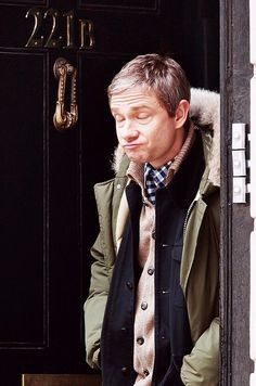Martin Freeman as John Watson ~ although that is definitely Martin seeping through. // bbc sherlock