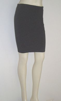 Forever 21 Pencil Skirt Dark Gray Heather size SMALL Stretch Knit PERFECT  #Forever21 #StraightPencil