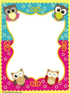 Free printable preschool borders and frames - Frame Clipart ⋆ بالعربي نتعلم Free Printable Stationery, Printable Frames, Printable Recipe Cards, Printable Labels, Owl Theme Classroom, Classroom Art Projects, Borders For Paper, Borders And Frames, Kindergarten Coloring Pages