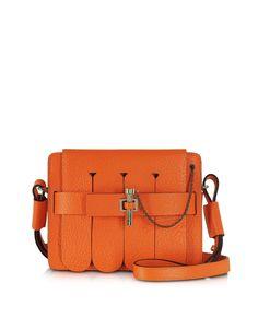 Carven Orange Small Malher Fringe Bag