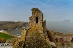 Tantallon castle with Bass Rock.