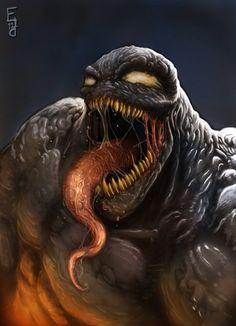 #Venom illustration #Spiderman