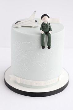 RAF Pilot Cake - Cake by Rebecca Davies Cake Design