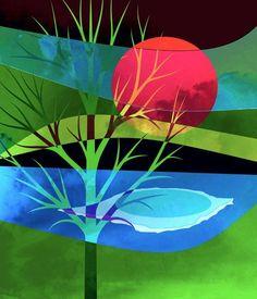 'Baum im Wandel' von Gertrude  Scheffler bei artflakes.com als Poster oder Kunstdruck $18.71
