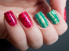 Chalkboard Nails: Easy Watermelon Nail Art
