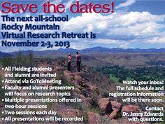 Rocky Mountain Virtual Research Retreat, Nov 2-3, 2013