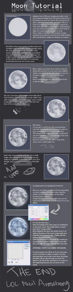 """drawingden: """"+Moon Tutorial+ by Spell """""""