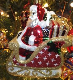 Waterford Holiday Heirlooms 2013 Coming to Town Santa Ornament 2013 New In Box