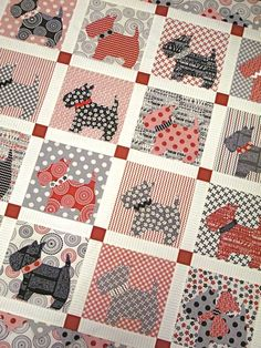 Mom, any chance i could get you to make this Scottie quilt for a girl at work? I'll buy the fabric.