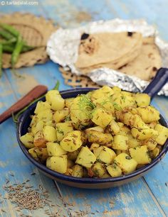 While the cumin seeds define the flavour of Jeera Aloo, a dash of lemon and green chilli paste are also added to enhance the experience further. Enjoy it hot and fresh, with puris or roti.