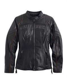 Harley-Davidson® Women's Core Eclipse Waterproof Leather Jacket with Triple Vent System 98069-14VW