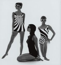 Op Art Bathing Suits 1960s