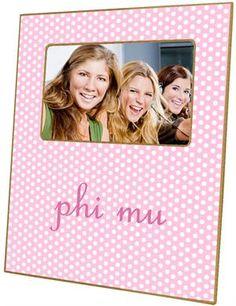 F956-phi mu Sorority Picture Frame $46.00 #PhiMu