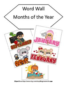 Looking for a whimsical fun way to display the names of the months? Each month is illustrated with a charming graphic that depicts something unique for that month. Run them off on cardstock and laminate and then use them as your students are ready. You can also run two copies and use them as a matching game in a center.Looking for primary puzzles?