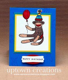Stampin' Up: Sock Monkey Birthday