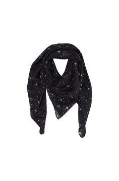 9081fe632a56 Foulard soie imprime constellation bleu nuit - foulards femme - naf naf 1