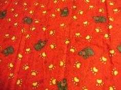 Bears and Paws Flannel Fabric,Debbie Mumm Flannel,Joannes,1 Half Yard by susiesfabrics on Etsy