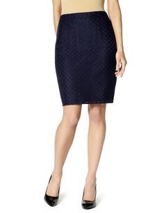 Lace Overlay Skirt via The Limited - so pretty!  And NAVY!
