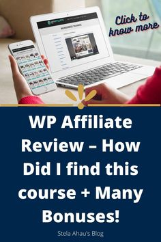 The course I used to build my blog for the first time. AFFILIATE TRAINING + WORDPRESS TRAINING + CUSTOM WP THEME + WP THEME SHOP!