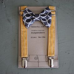 Sterling Suspender and bow tie setSize 318 month by Bebecha, $25.95