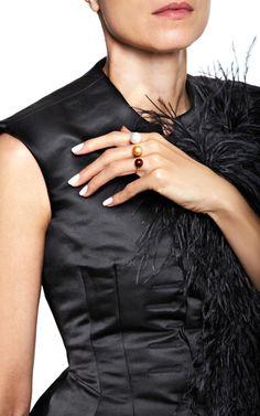 Triple Pearl Ring by Delfina Delettrez for Preorder on Moda Operandi
