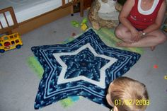shades of blue starghan I made for kiddo about 5 yrs ago