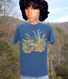 90s vintage t-shirt SNAKES reptile nature by skippyhaha on Etsy