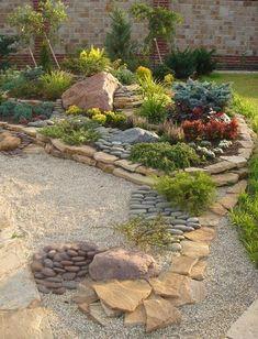 New small patio garden design decor ideas Backyard Patio Designs, Front Yard Landscaping, Patio Ideas, Backyard Ideas, Landscaping Ideas, Diy Patio, Natural Landscaping, Mulch Landscaping, Succulents Garden
