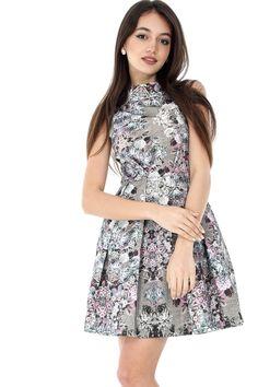Rochie multicolora, ROH, cu imprimeu floral - CLD921