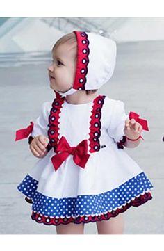 Vestido Dolce Petit de bebe colección primavera color blanco