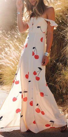 Cherries maxi dress