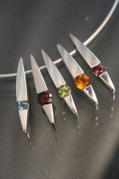 Sterling Gemstone Pendants by Art Metals Studio