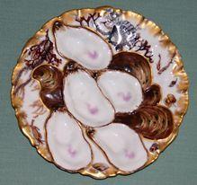 Haviland Limoges Antique Turkey Oyster Plate 1876-1889