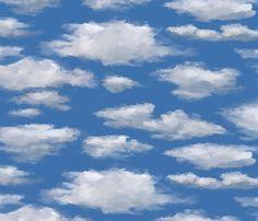 Clouds fabric by Kadenza.