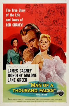 1957 movie posters and stills | Man of a Thousand Faces (1957)