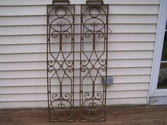 antique ornate iron  panelsart deco iron by TheLittleMuseumCo