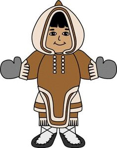 Inuit woman paper craft