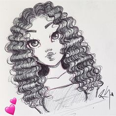 Learn How to Draw Curly Hair in my new video!✨ https://youtu.be/0NKv0MFQjYg
