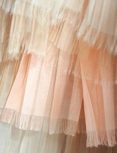A close-up of layers of featherlight cobweb tulle from Burberry
