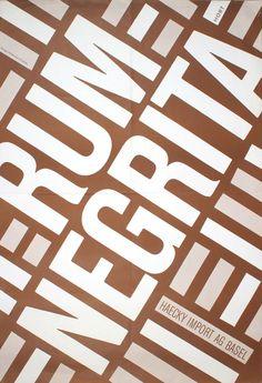 rum-negrita-poster-60s  Vintage poster Hans Peter Hort  Swiss typographic poster