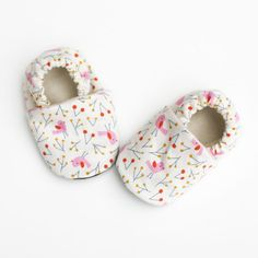 cute printed baby shoes