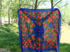 Russian shawl Russian scarf Ukrainian shawl Wool Shawl with