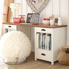Chatham Large Pedestal Desk + Hutch #pbteen
