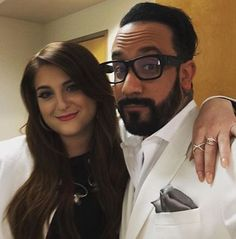 AJ McLean ·  My new bestie. Loved performing with this amazing talent. Girl we gonna make history. Meghan Trainor