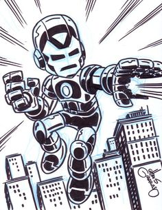 Iron Man sketch by Chris Giarrusso