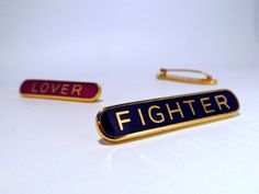 Lover Fighter via Schools Out Badges - Lyrical lapels. Click on the image to see more!